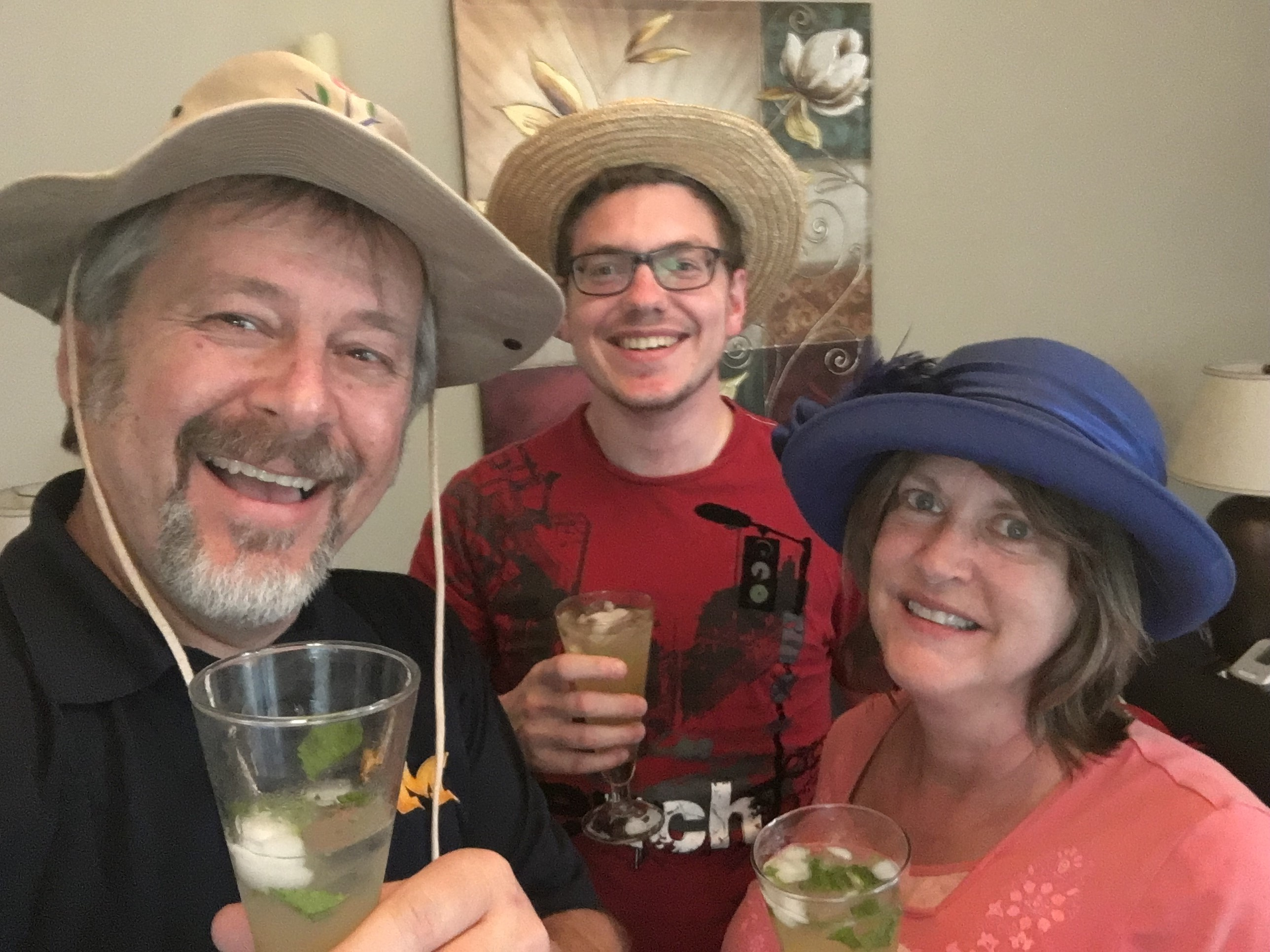 Kentucky Derby Day means mint juleps and funky hats