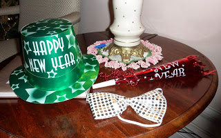 New Years Eve Party Hat Noise Maker and Bow Tie