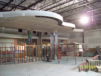 interior construction work on modern building
