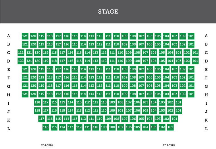 numbered seating chart for Sauk Theater in Jonesville