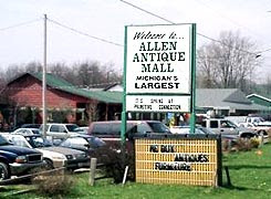Allen is the antique capital of Michigan