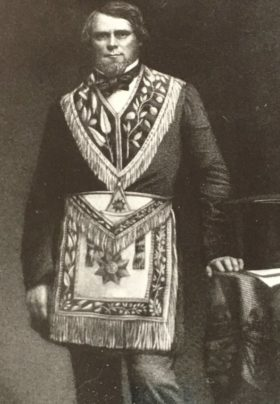 george clinton munro of Jonesville Michigan in Mason Grand High priest outfit