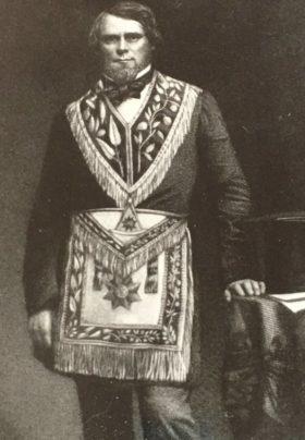 george clinton munro of Jonesville Michigan in Mason Grand High priest outfit