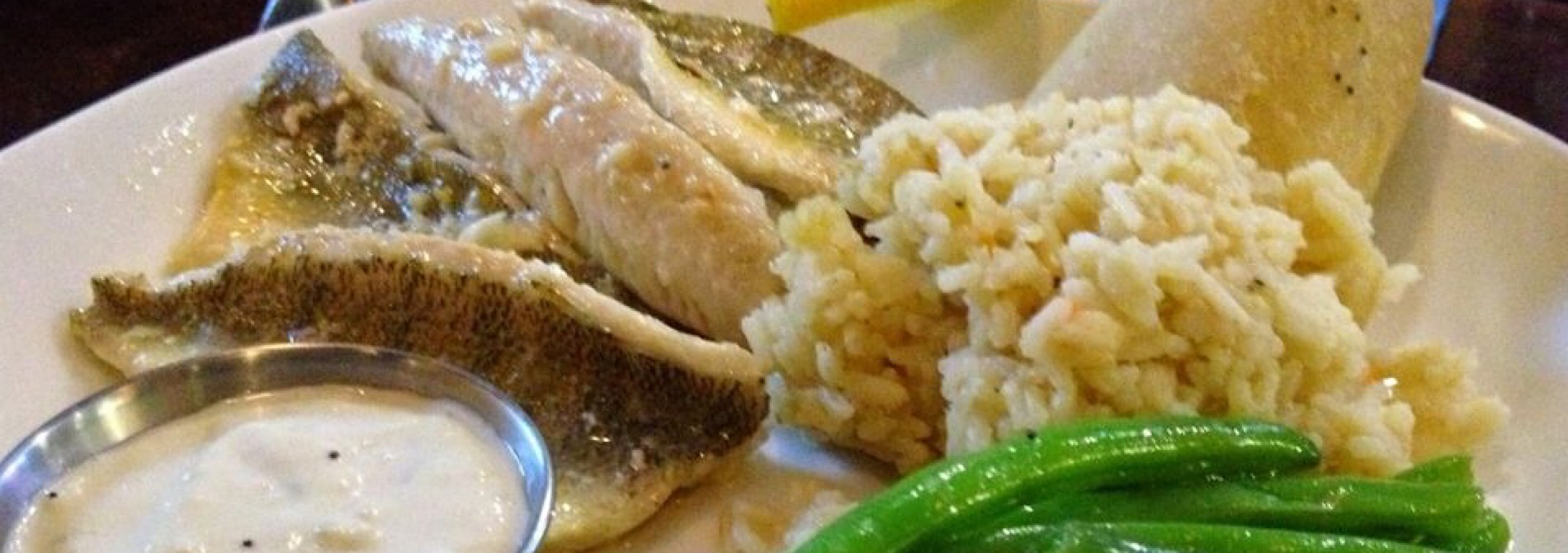 broiled perch with green beans