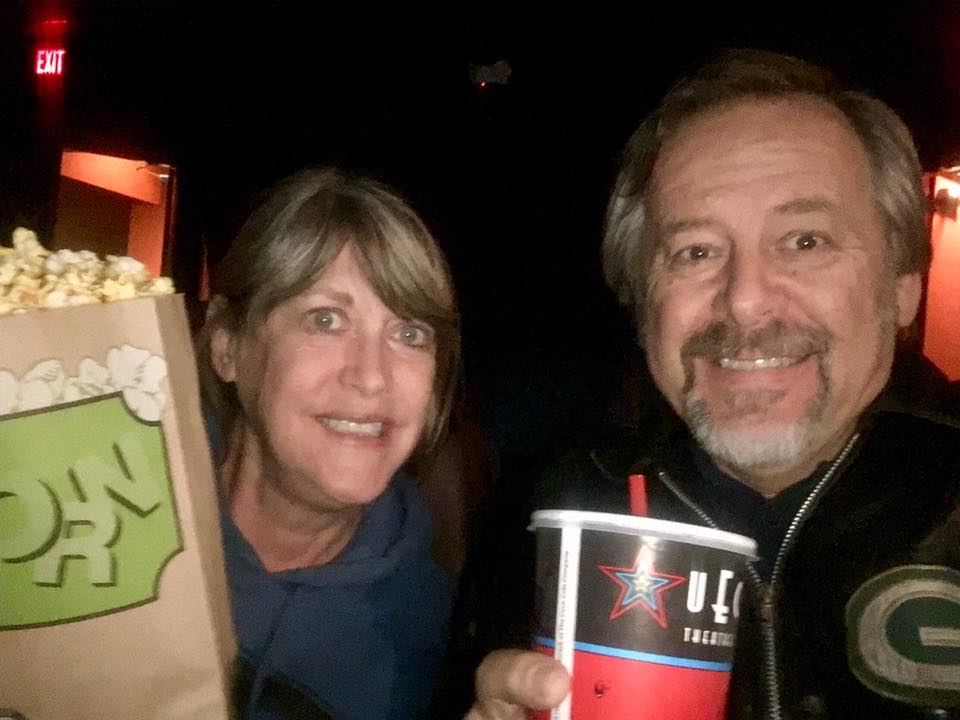 Happy moviegoers at UEC Premiere Theater in Hillsdale MI
