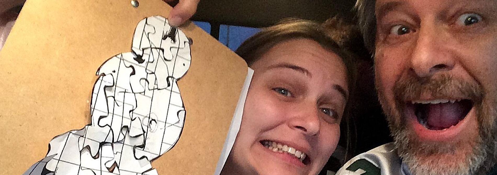 puzzle solvers create snowman crossword